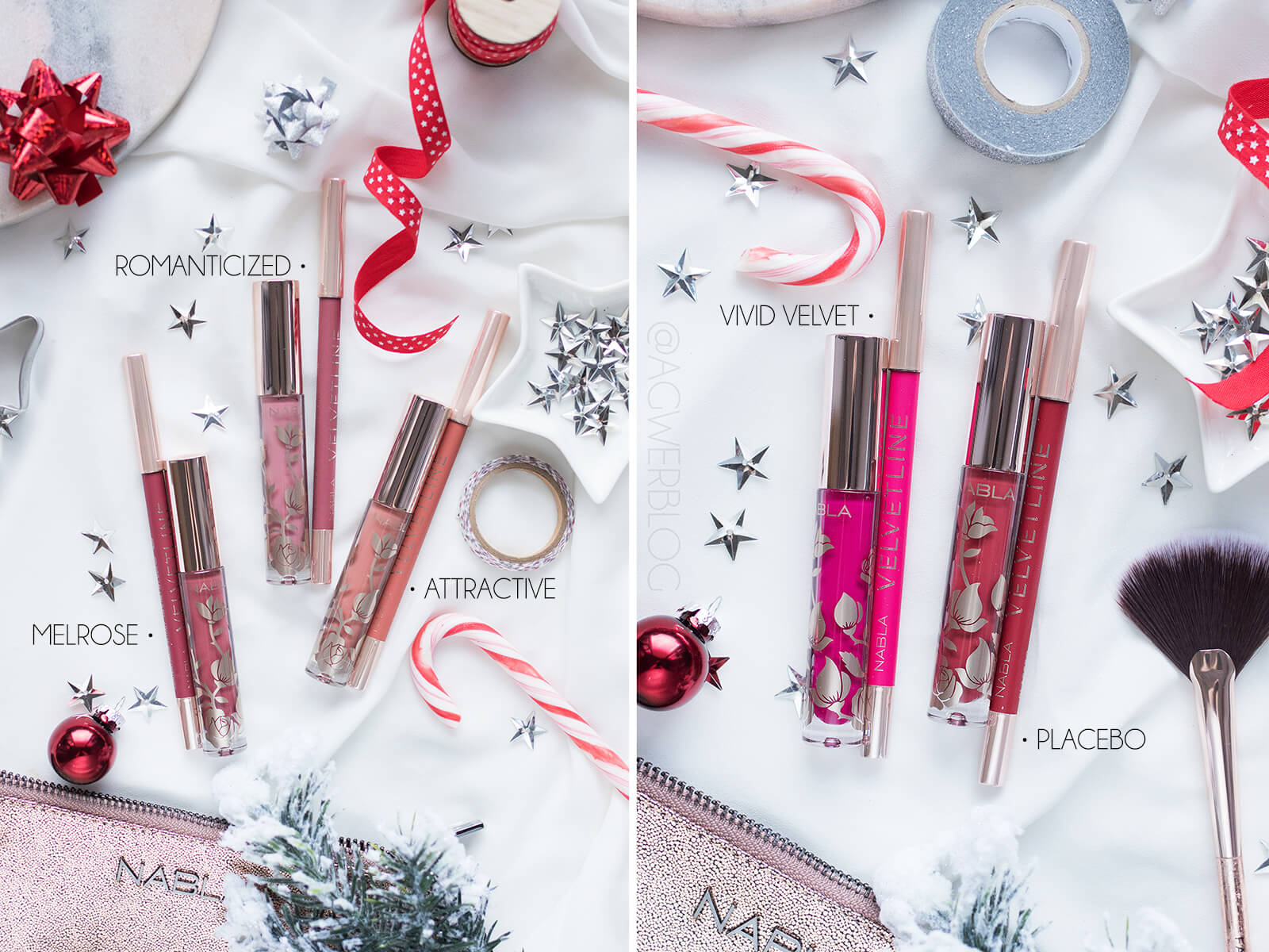 nabla holiday collection swatches