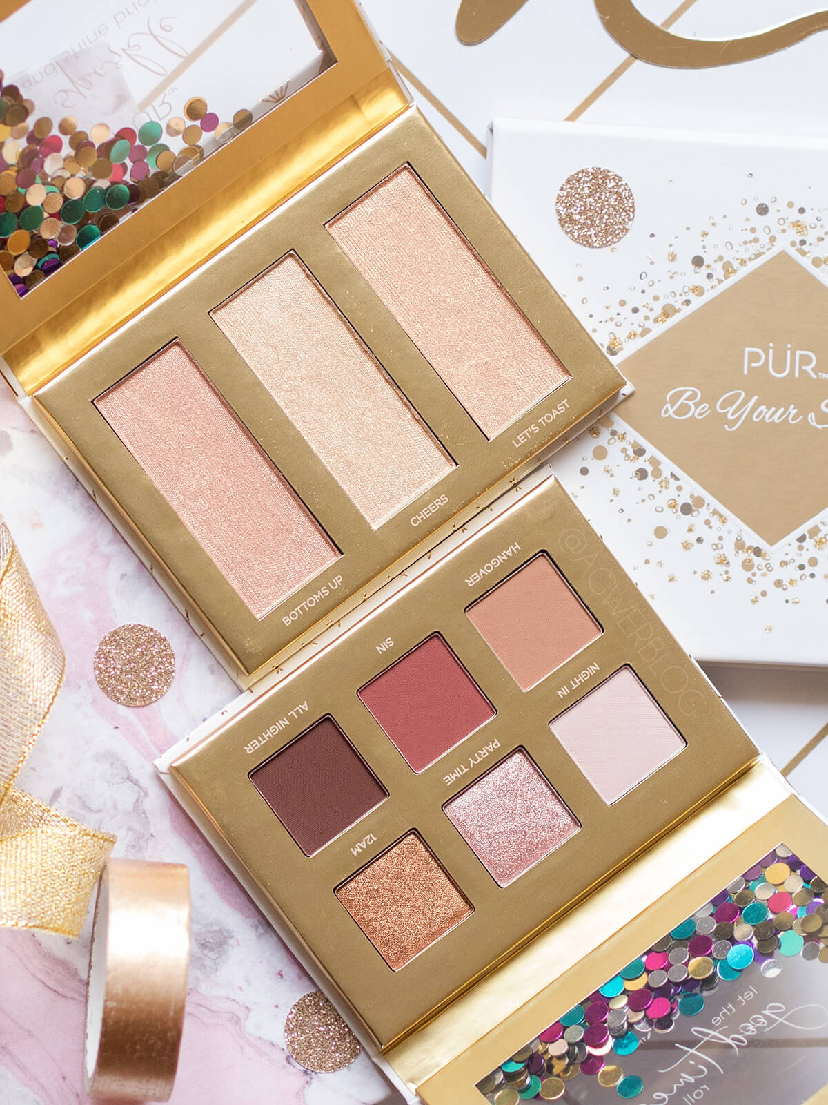 PÜR Cosmetics sparkle ans shine bright