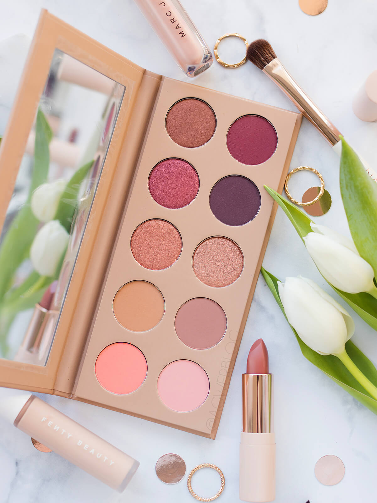 KKW Beauty Classic Blossom swatches