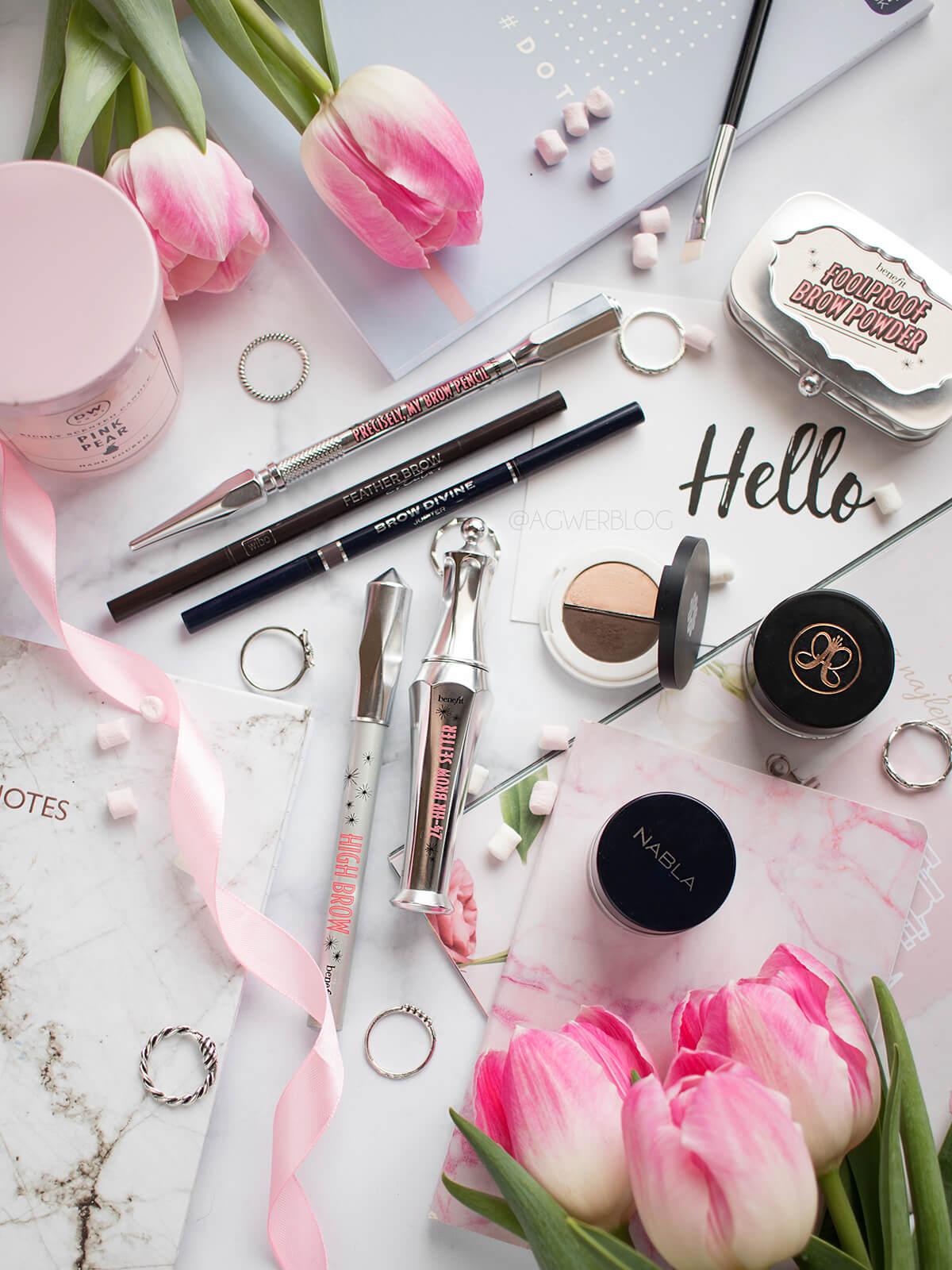 najlepsze produkty do makijażu brwi