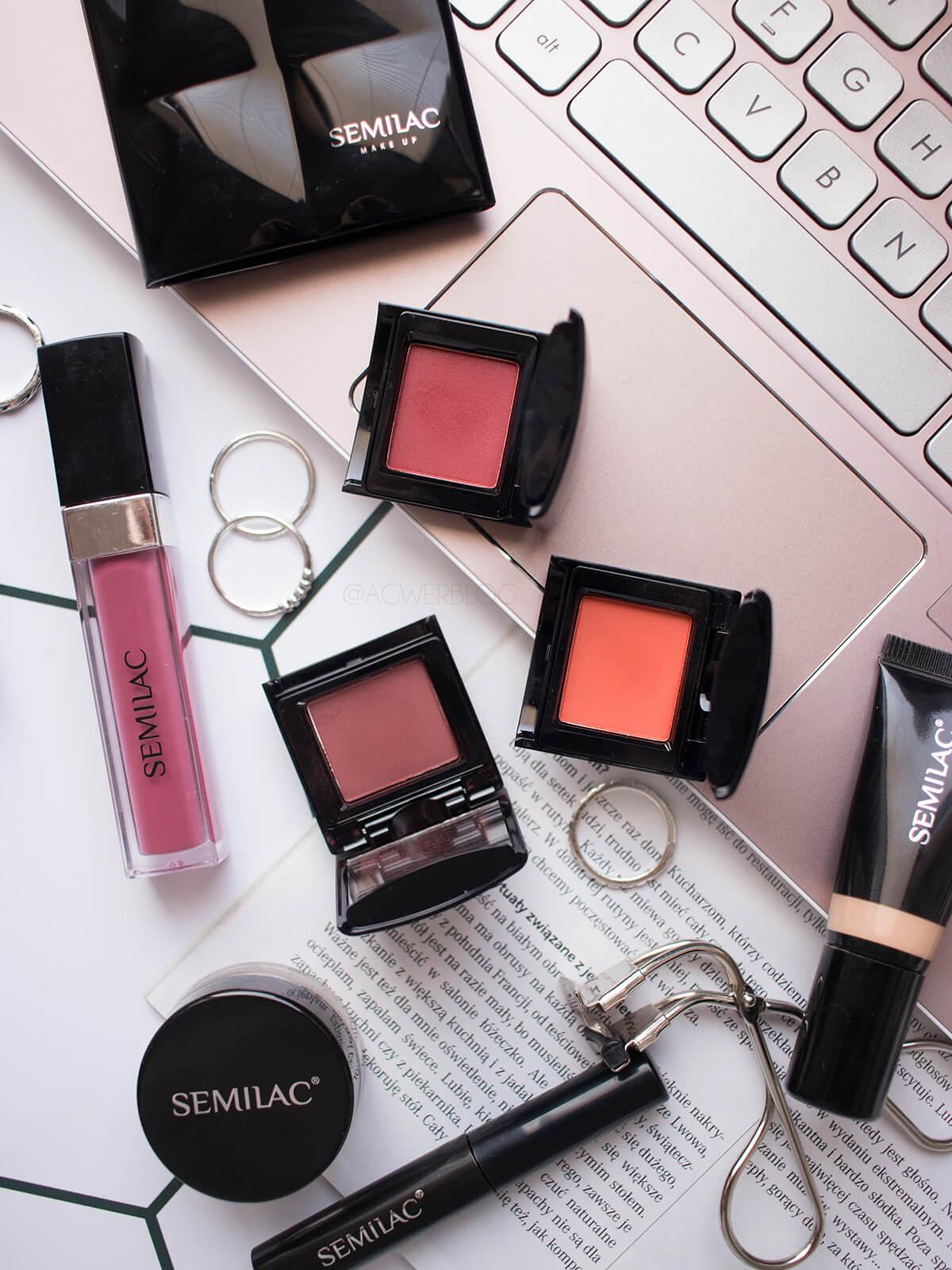 makijaż kosmetykami semilac cienie do powiek