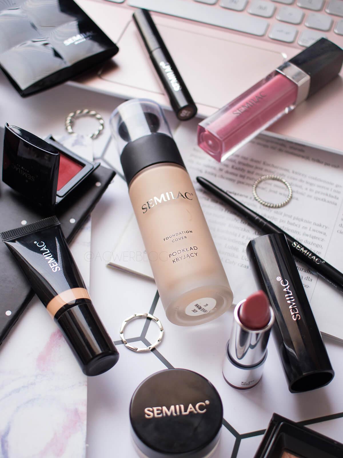 makijaż kosmetykami semilac