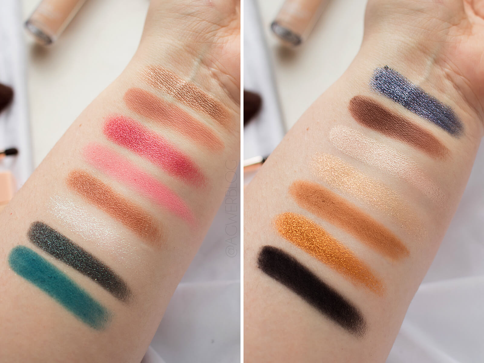 Nabla cosmetics Secret Palette swatches
