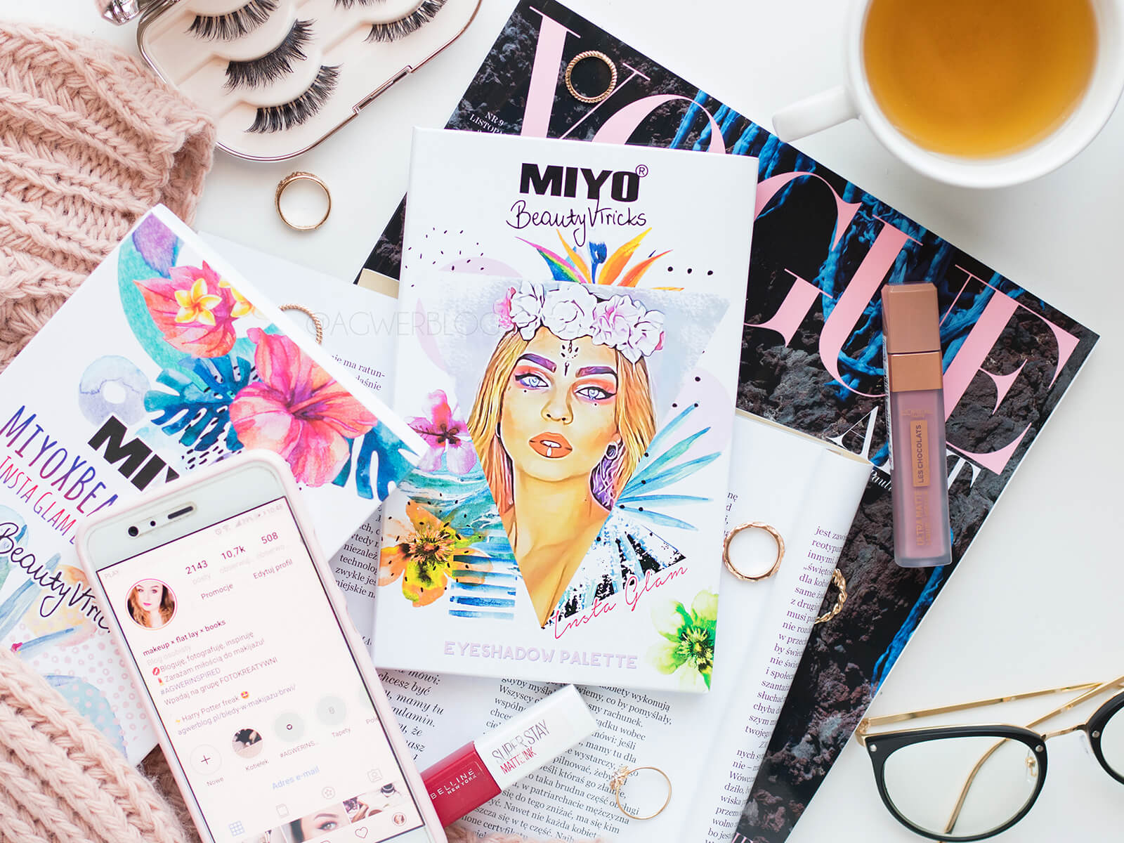 MIYO x Beautyvtricks Insta Glam: tydzień #PALETLOVE