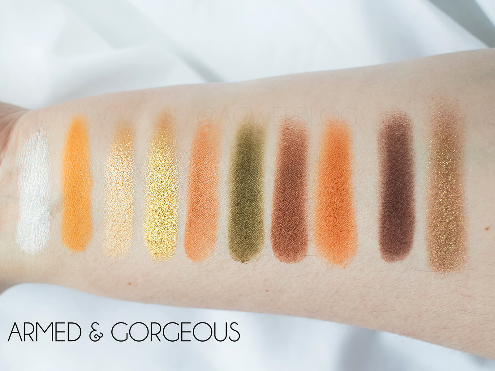 ARMED & GORGEOUS SWATCHES