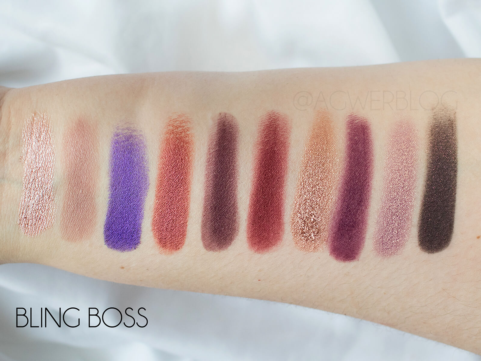 bling boss swatches