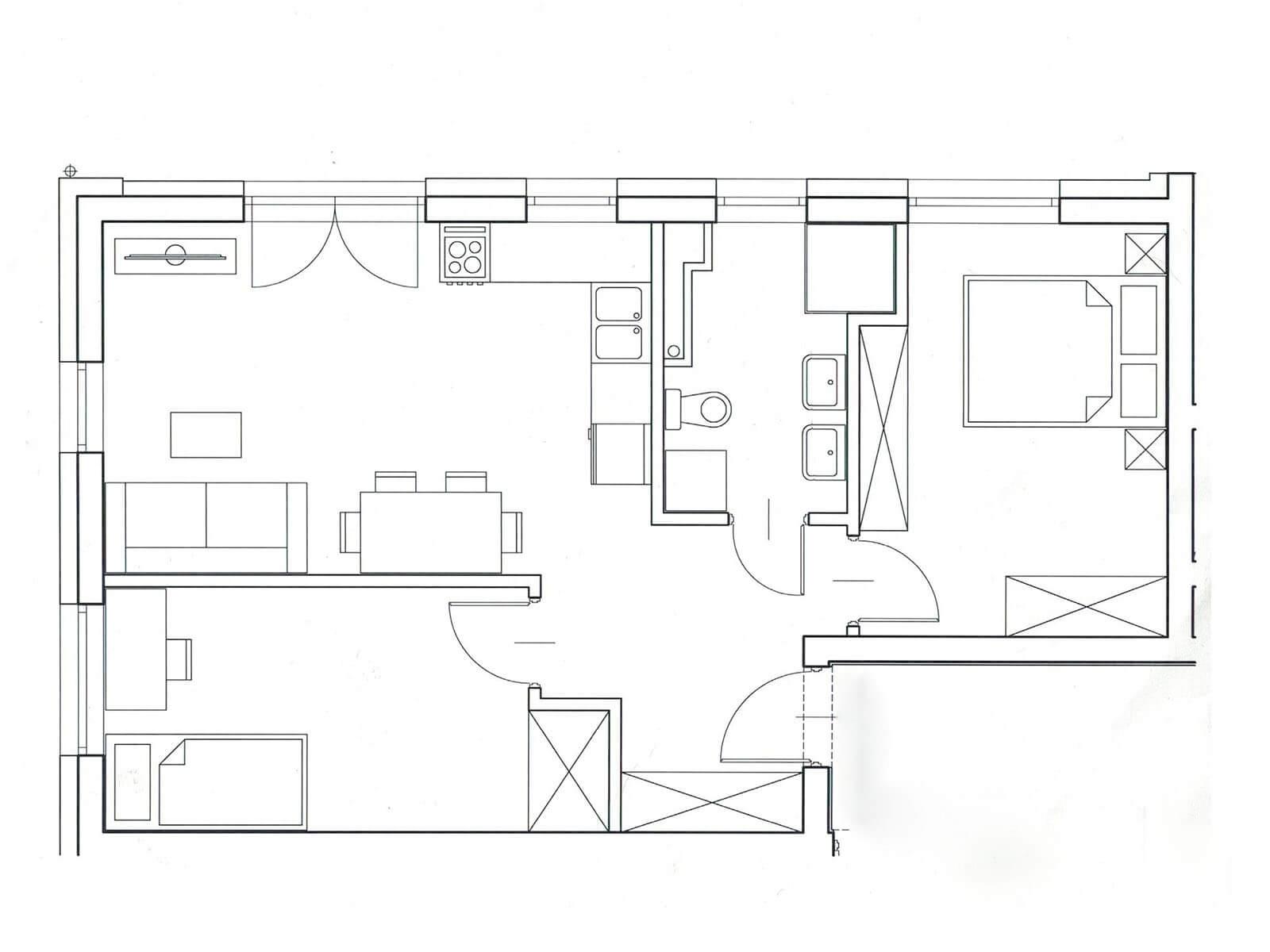 projekt mieszkania rzut