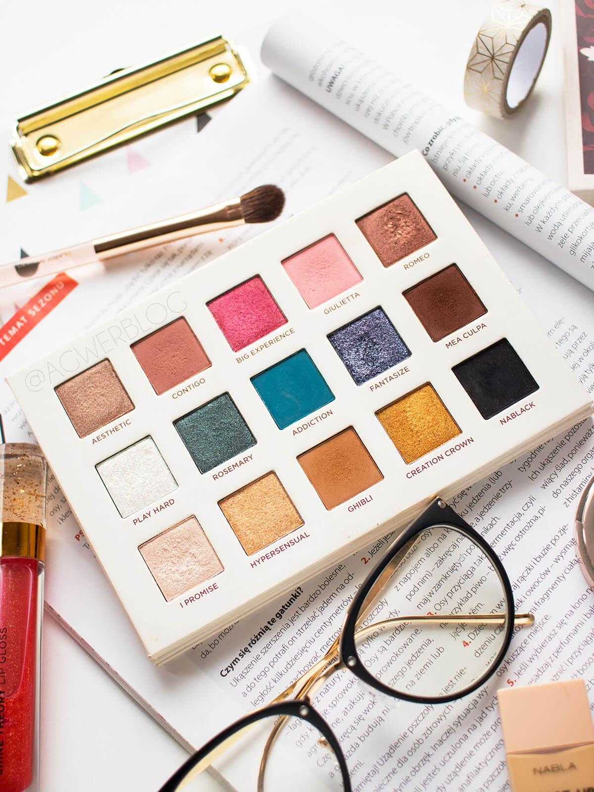 makijaż dzienny nabla secret palette