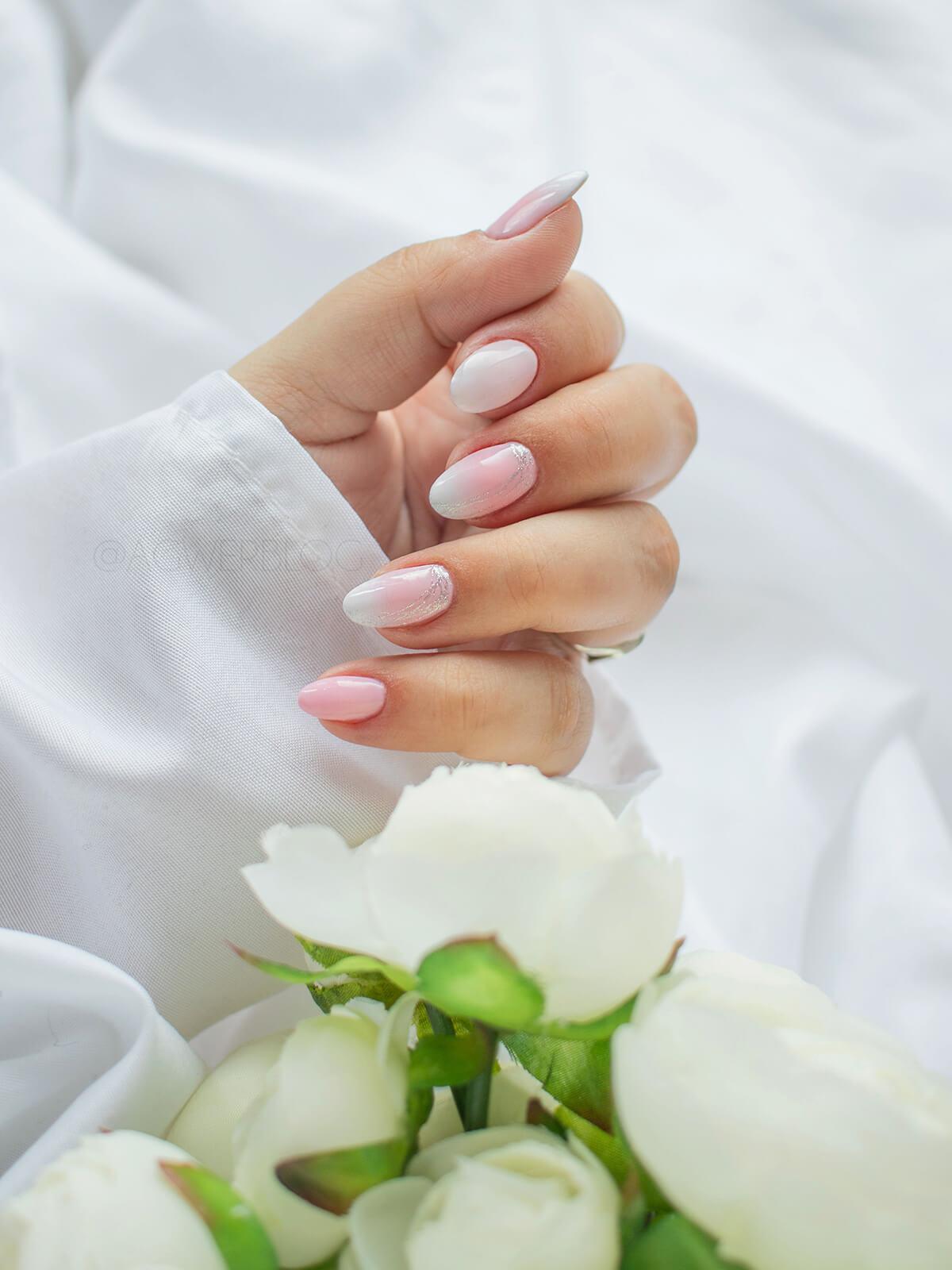 ślubne paznokcie ombre