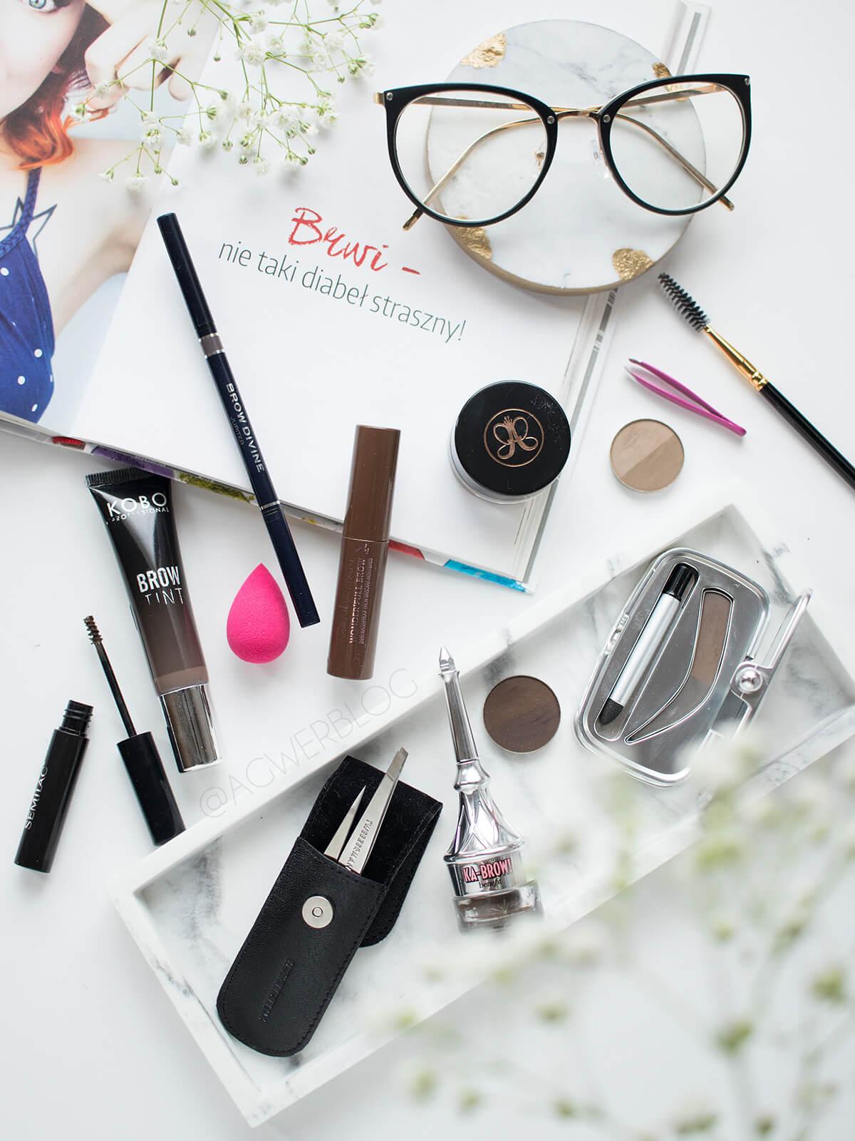 makijaż brwi blog