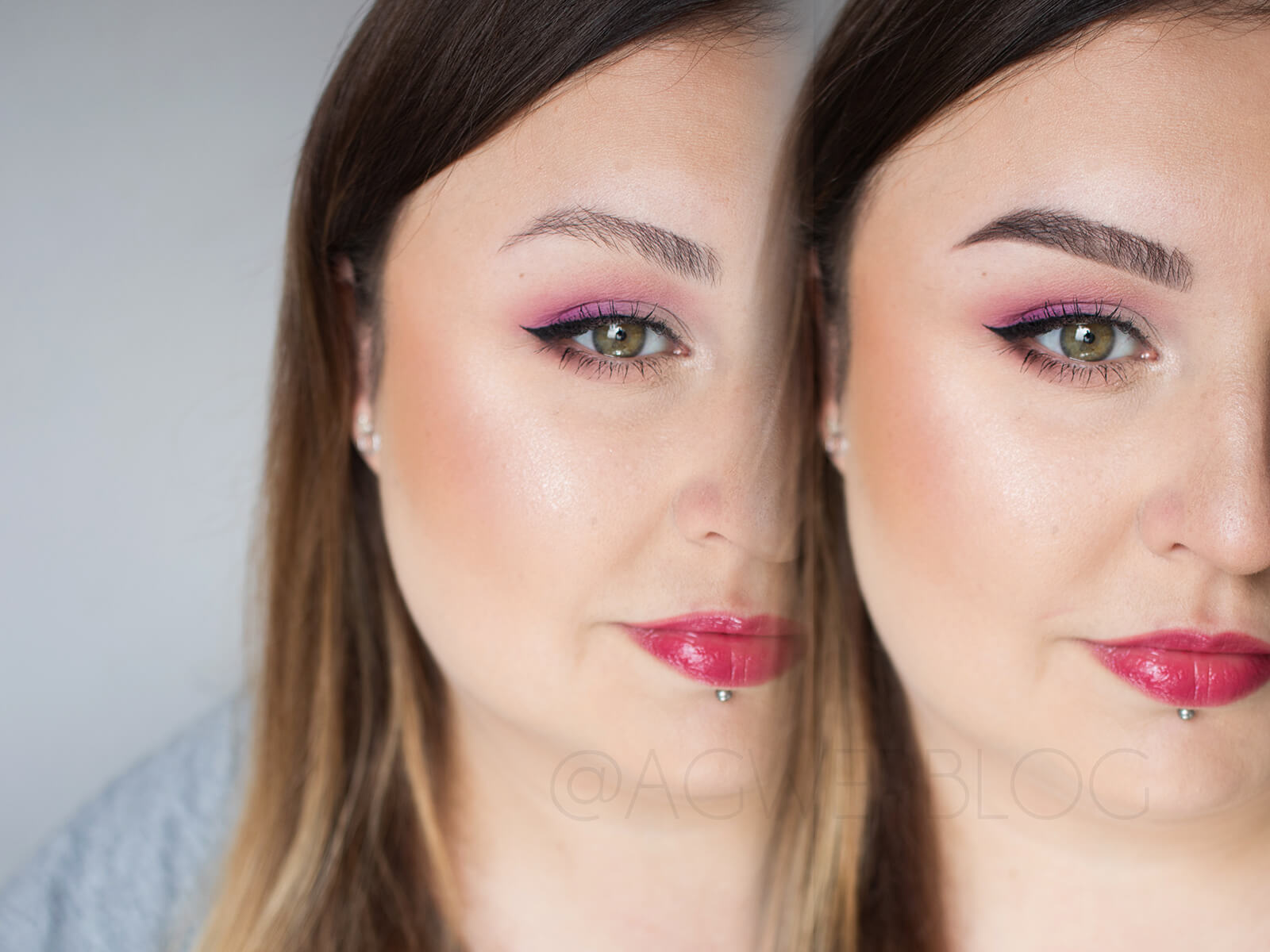 makijaż brwi dla brunetek