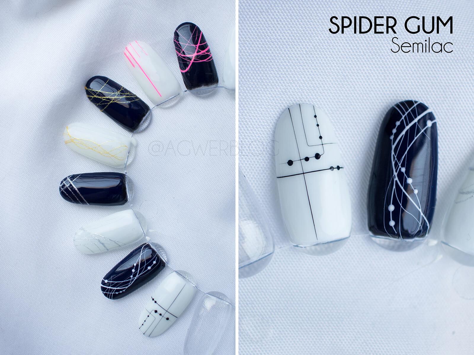 semilac żel do zdobień spider gum