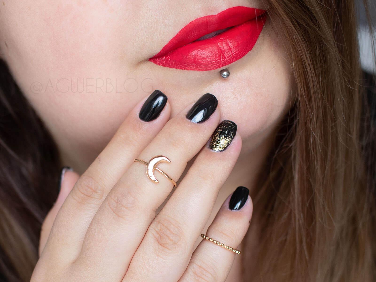 paznokcie czarne