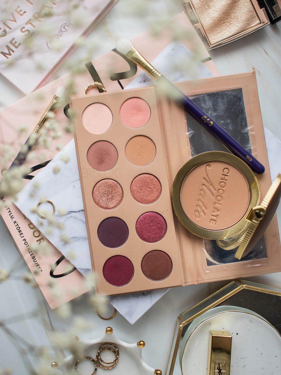 palety do makijażu dziennego blog