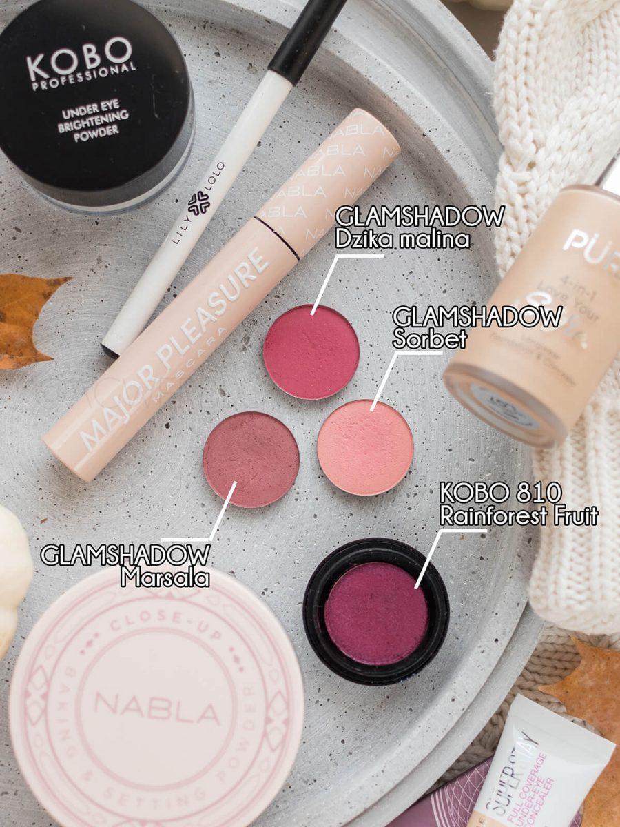 bordowy makijaż blog