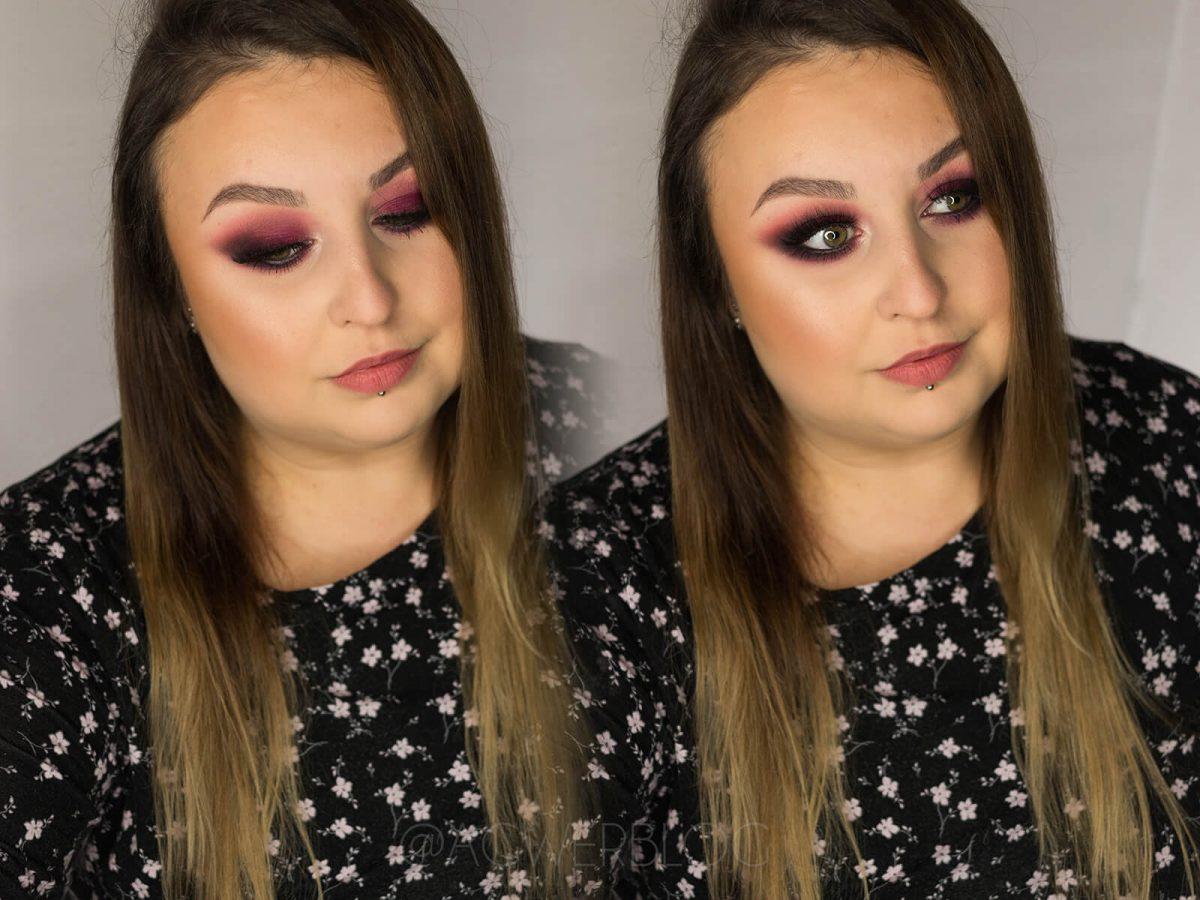 bordowy makijaż instrukcja