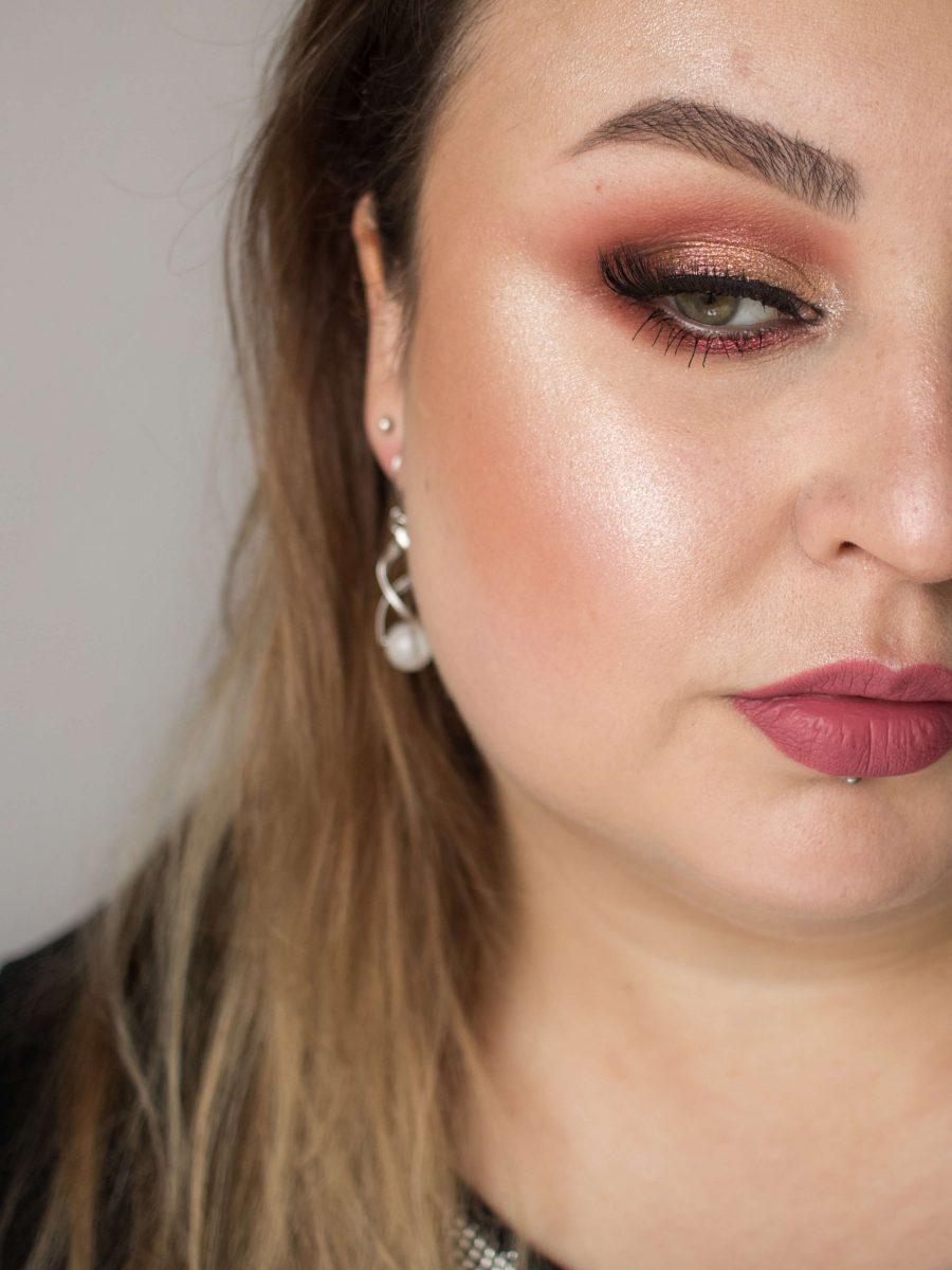 delikatny makijaż na sylwestra
