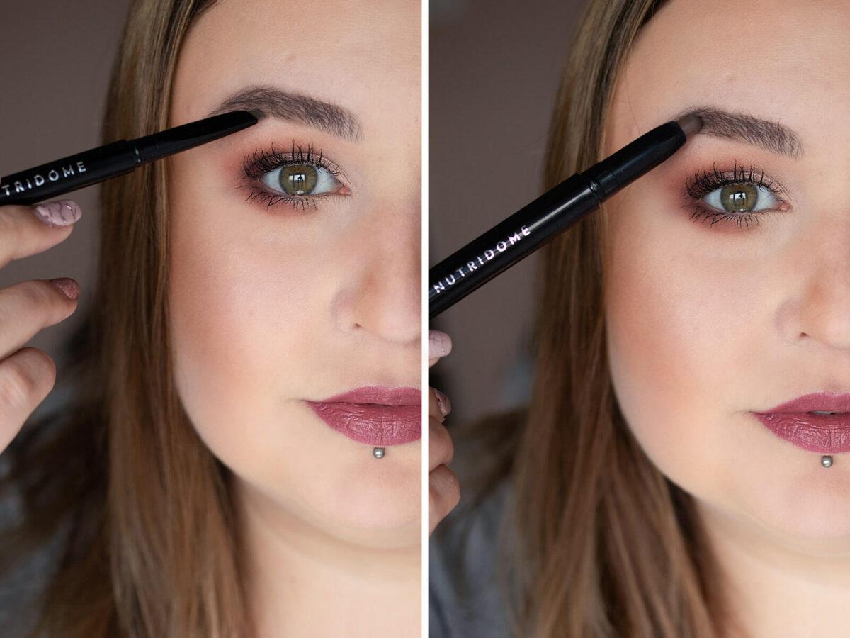 codzienny makijaż brwi