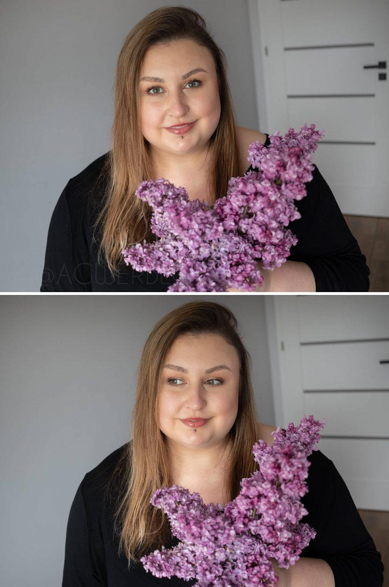 delikatny szybki makijaż dzienny