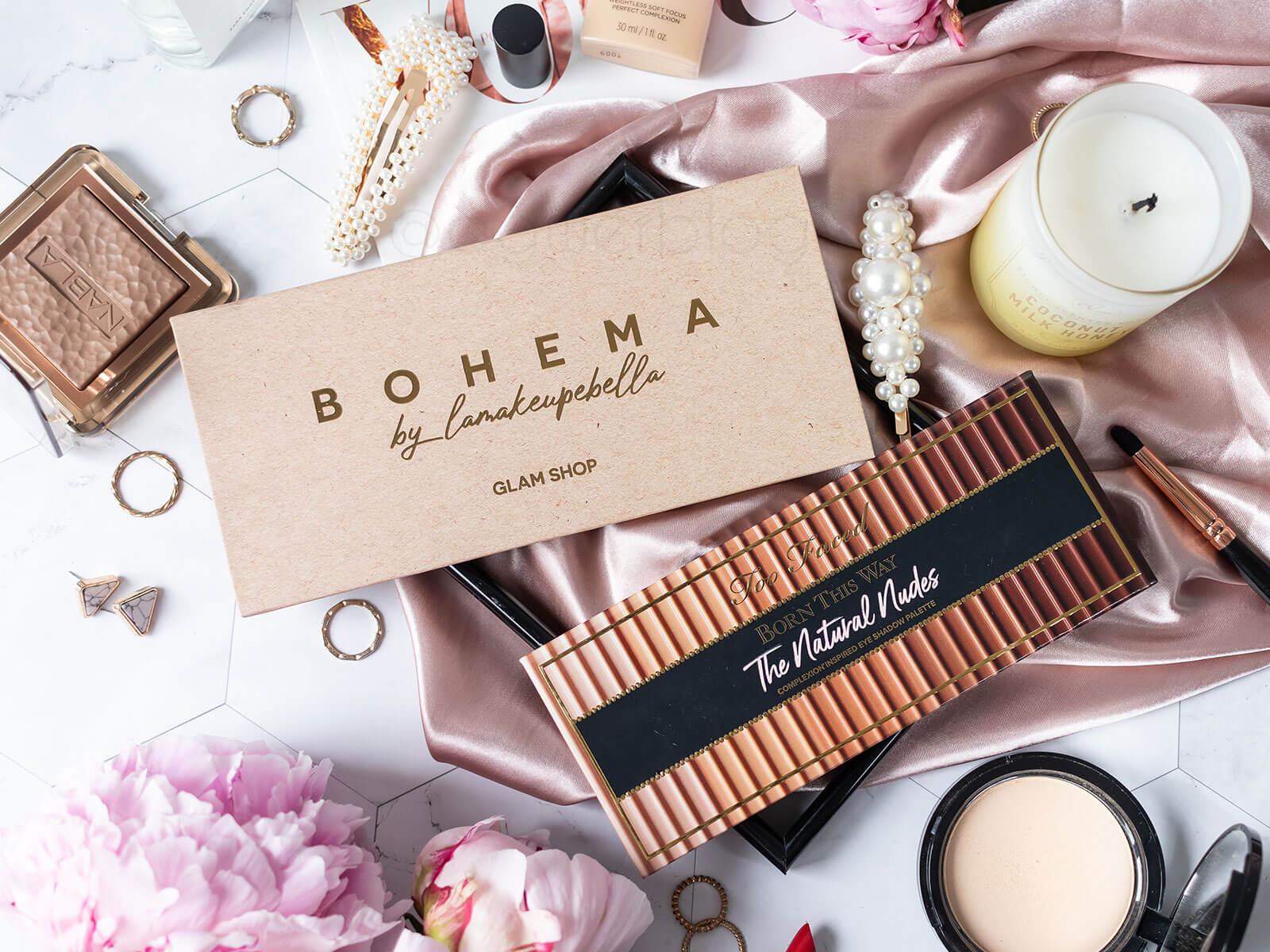 Glam shop Bohema vs. Too Faced The Natural Nudes